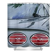 Chevrolet Corvette Tail Light Shower Curtain