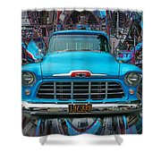 Chevrolet Pick Up Abstract Shower Curtain