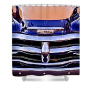 Chevrolet Pickup Truck Grille Emblem Shower Curtain