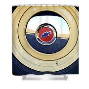 Chevrolet Wheel Emblem Shower Curtain