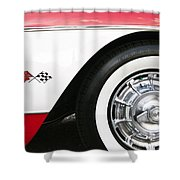 Chevrolette Corvette Sting Ray Convertible Shower Curtain