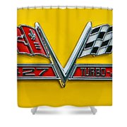 Chevy 427 Turbo-jet Shower Curtain