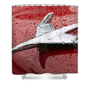 Chevy Bel Air Nomad Hood Ornament Shower Curtain