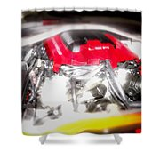 Chevy Camaro Engine Shower Curtain