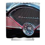 Chevy Dash Clock Shower Curtain