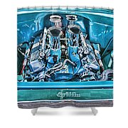 Chevy Engine Hdr Shower Curtain