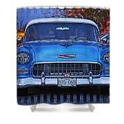 Chevy Front End Shower Curtain