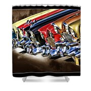 Chevy Line Up Shower Curtain