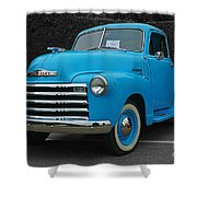 Chevy Pick-up With Bw Background Shower Curtain