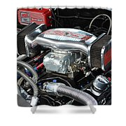 Chevy Power Shower Curtain