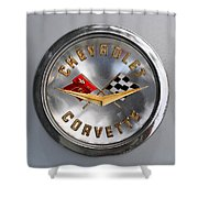 Chevy Racing Flags Shower Curtain