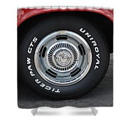 Chevy Rims Shower Curtain