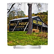 Chew Mail Pouch Painted Shower Curtain