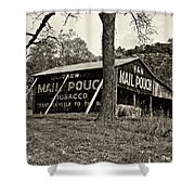 Chew Mail Pouch Sepia Shower Curtain