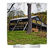 Chew Mail Pouch Shower Curtain