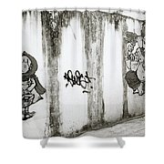 Chiang Mai Graffiti Shower Curtain