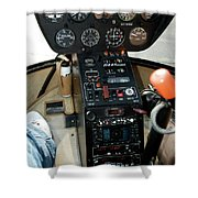 Chicago Airplanes 06 Shower Curtain
