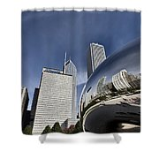 Chicago Cityscape The Bean Shower Curtain