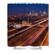 Chicago Illumina Shower Curtain