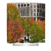 Chicago In Autumn Shower Curtain