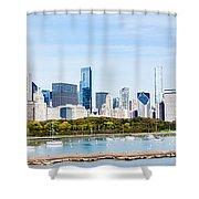 Chicago Panorama Skyline Shower Curtain by Paul Velgos