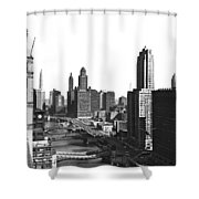 Chicago River In Chicago Shower Curtain