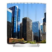 Chicago Skyline Downtown City Buildings Shower Curtain