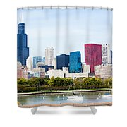 Chicago Skyline Lakefront Shower Curtain by Paul Velgos
