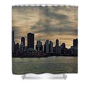 Chicago Skyline Navy Pier Shower Curtain