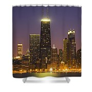 Chicago Skyscrapers With John Hancock Shower Curtain