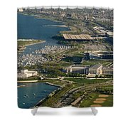 Chicagos Lakefront Museum Campus Shower Curtain