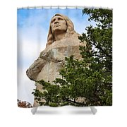 Chief Blackhawk Statue Shower Curtain by Bruce Bley