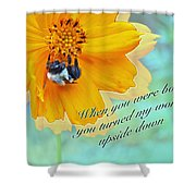 Child Birthday Greeting From Parent Parents - Cosmos And Bumblebee Shower Curtain
