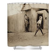 Child Goes To Work At Mill In Alabama - 1910 Shower Curtain