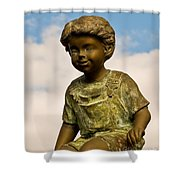 Child In The Clouds Shower Curtain