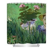 Child In The Flowers Shower Curtain