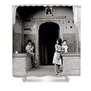 Childhood In Jaipur  Shower Curtain