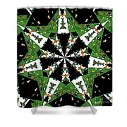 Children Animals Kaleidoscope Shower Curtain