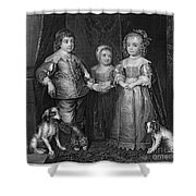 Children Of Charles I Shower Curtain