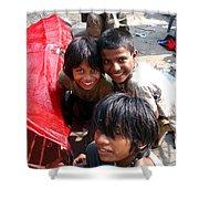 Children Of Labor In India Shower Curtain