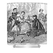 Childrens Fashion, 1868 Shower Curtain