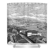 Chile: Valparaiso, 1865 Shower Curtain