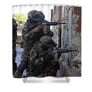 Chilean Marines Participate Shower Curtain