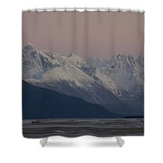 Chilkat River Flats And Coastal Shower Curtain