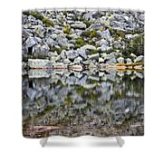 Chimney Pond Reflections Shower Curtain