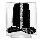 Chimney-pot Hat, C1850 Shower Curtain