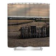 Chimney Rock Cemetery Shower Curtain