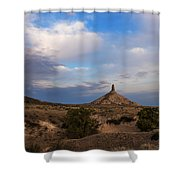 Chimney Rock On The Oregon Trail Shower Curtain