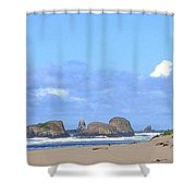 Chimneys Of Cannon Beach Shower Curtain
