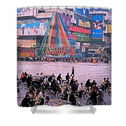China Chengdu Morning Shower Curtain by First Star Art